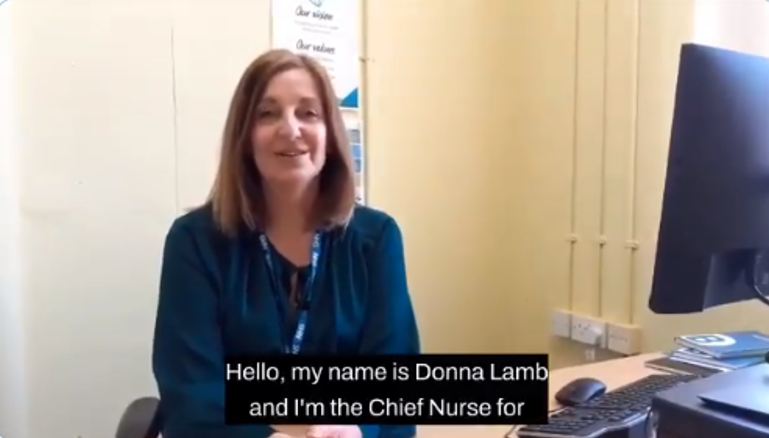 Donna Lamb, Chief Nurse for Sussex Community NHS Foundation Trust