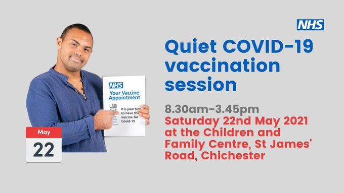 Quiet Vaccination Session on Saturday 22 May
