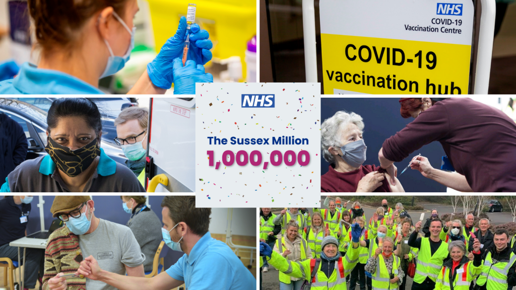 One million people in Sussex have now received their Covid-19 vaccination