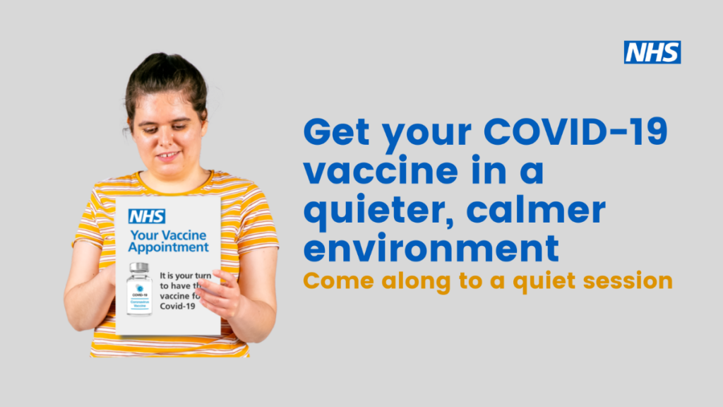 Get your COVID-19 vaccination in a quieter, calmer environment