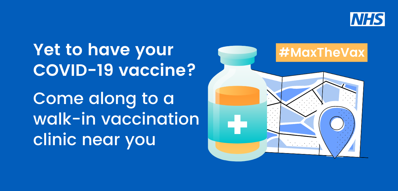 Yet to have your Covid-19 vaccine? Come along to a walk-in vaccination clinic near you