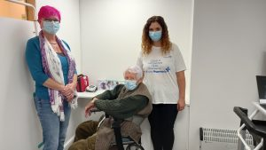 Michael Tibbs, 99, receives COVID booster vaccine as NHS vaccination rollout continues