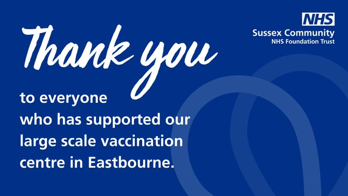 thank you to Eastbourne vax site